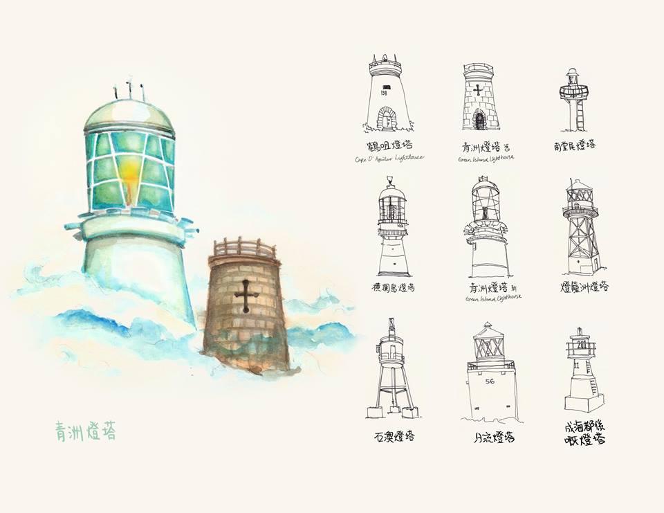 灯塔,种类 灯塔都有那么多种类--摘自奇美子繪本日記 56a灯塔.jpg