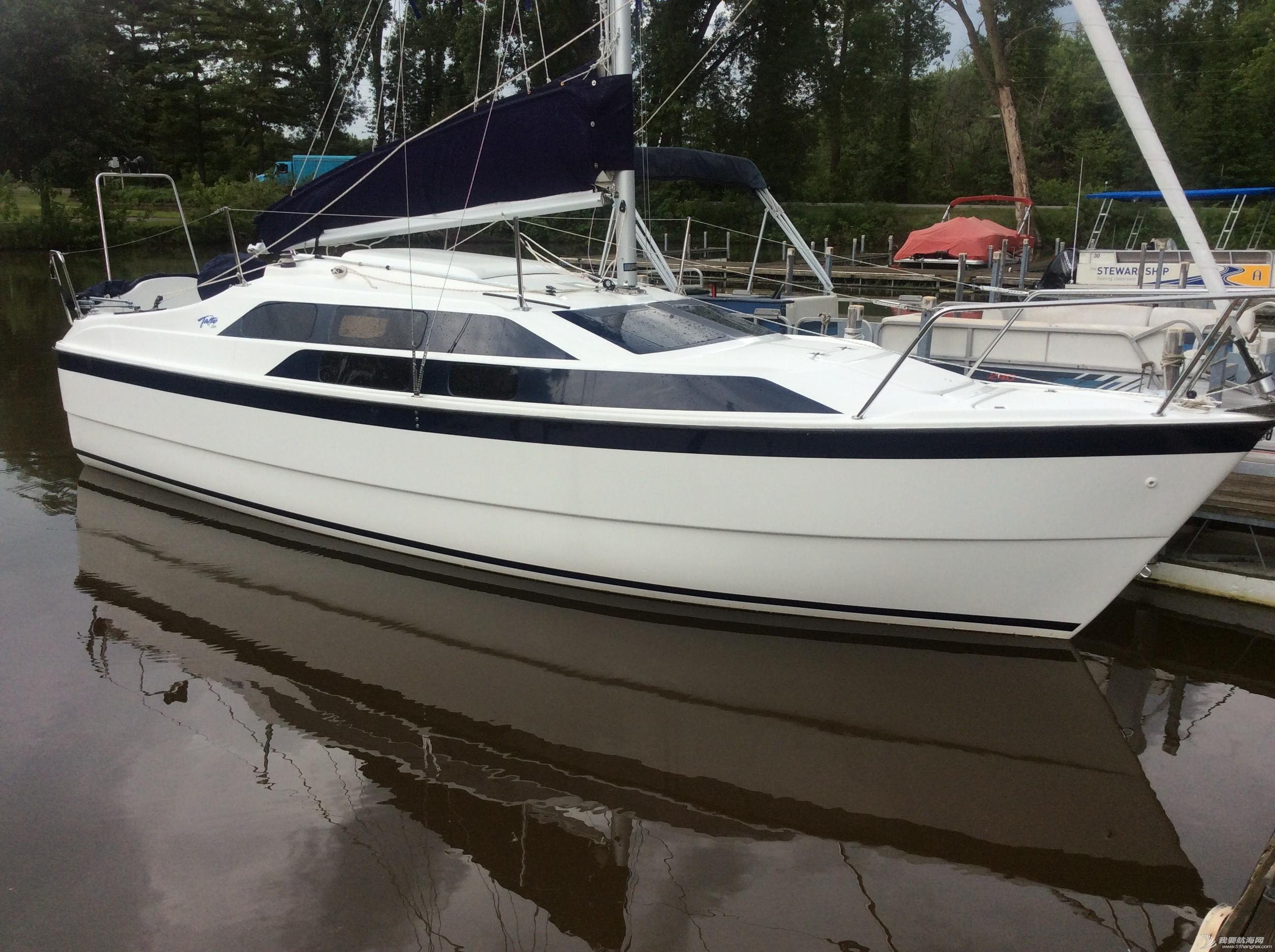美国,便宜,帆船,进口 低价出售美国原装全新机帆两用帆船美贵格MacGregor26 Tattoo1.jpg