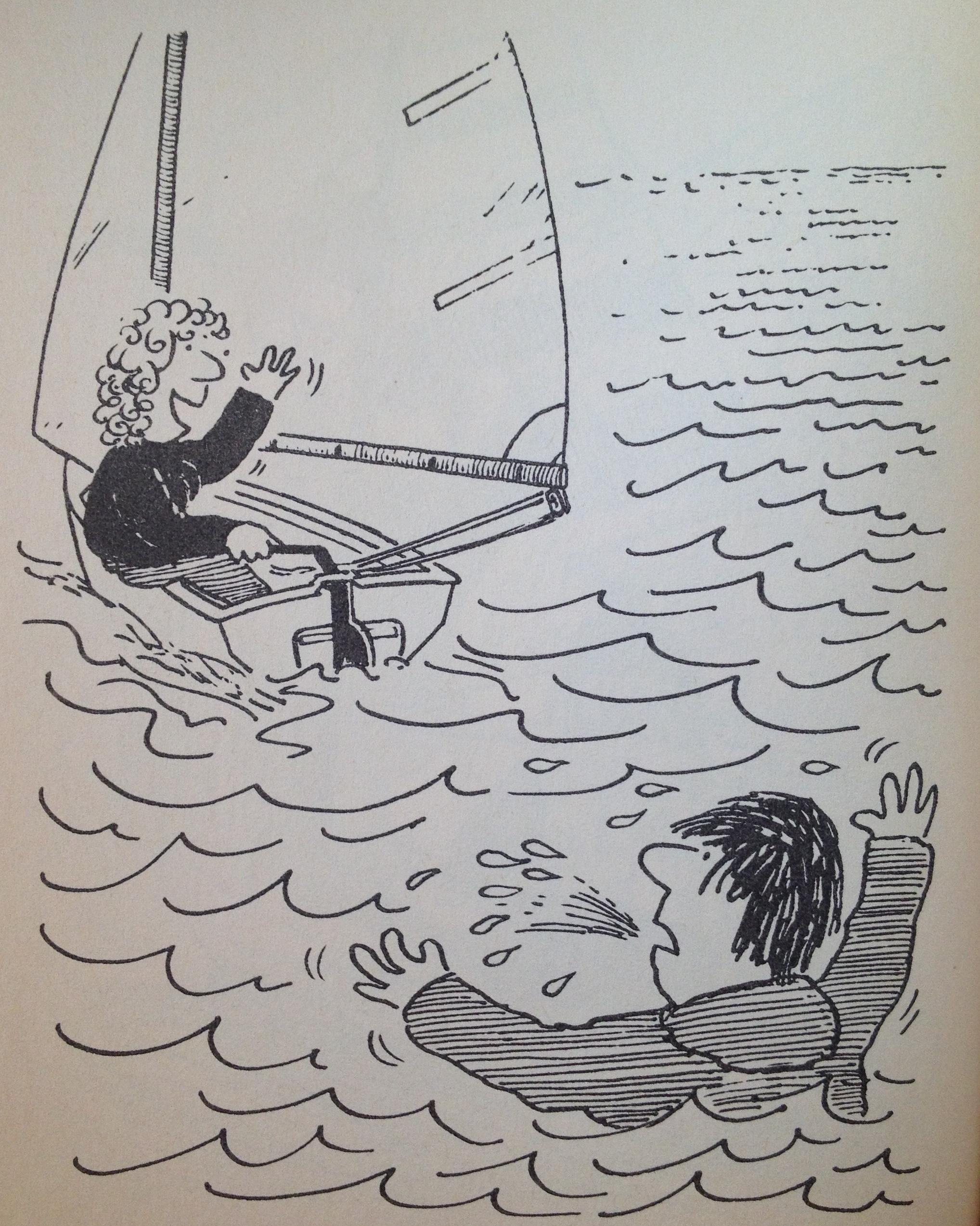 救生衣 航行中若有船员不慎掉入水中,采用以下办法尽快解救。 64b.jpg