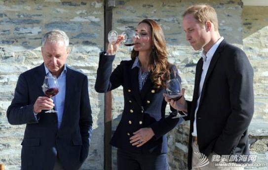 英国威廉,凯瑟琳,新西兰,葡萄酒,极速 英王妃凯瑟琳叹酒乘快艇 有喜传言不攻自破 1.png