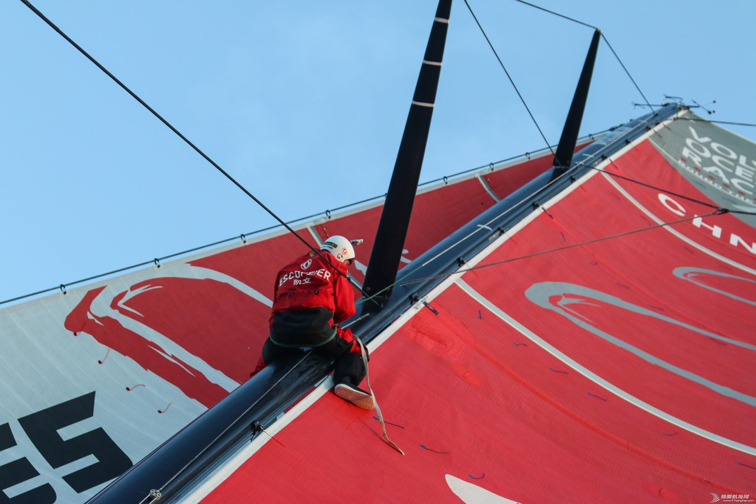 沃尔沃,极端天气,印度洋,帆船,修复 器械故障与极端天气 东风队直面双重压力