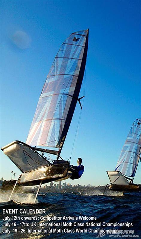 帆板,3D效果图,运动型,英文,帆船 Moth Class蛾级帆船--运动型小帆船介绍 Moth Class