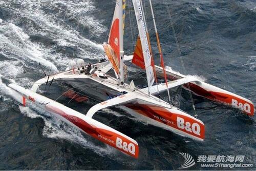 """世界上最快的三体帆船""""B&Q百安居号""""帆船详细介绍 百安居号三体帆船"""
