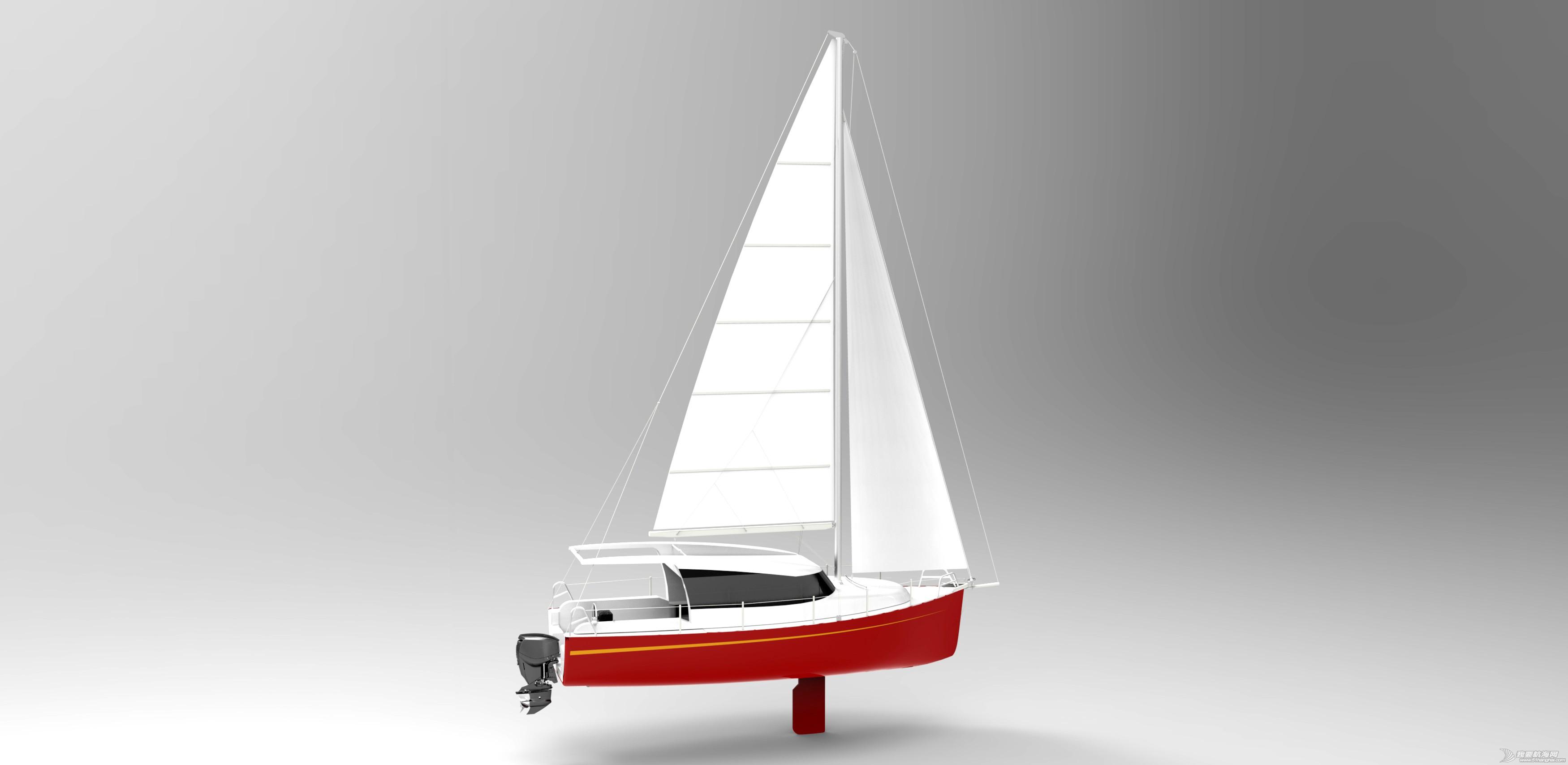 中国,特色,意大利,夏利轿车,竞争对手 PB273入门级动力风帆两用游艇,国内设计,符合中国特色!!