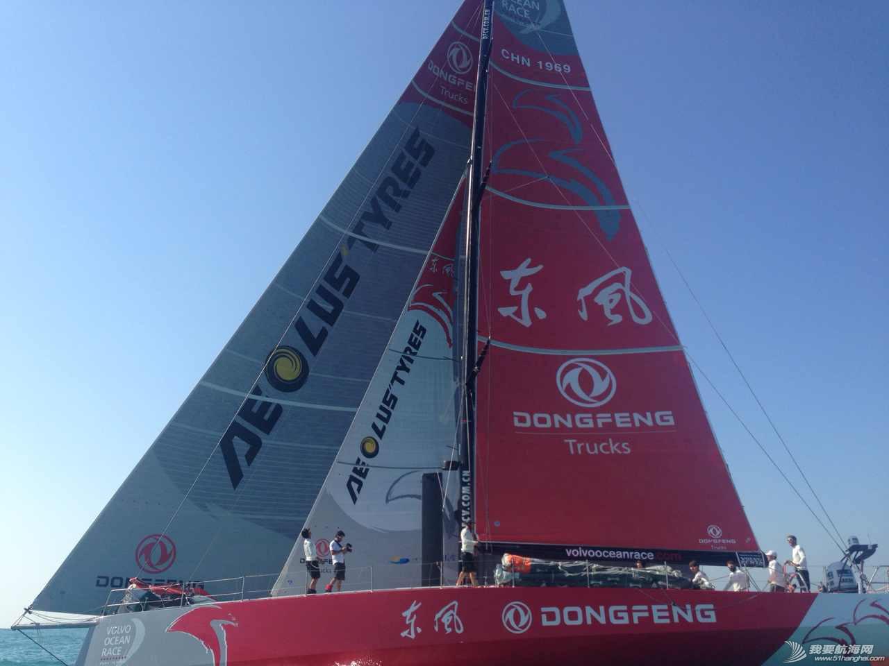 积分榜,北京时间,沃尔沃,阿布扎比,比赛结果 第二赛段东风队十几分钟之差屈居第二,布鲁内尔队获第一 沃尔沃环球帆船赛前线报道 东风队英姿