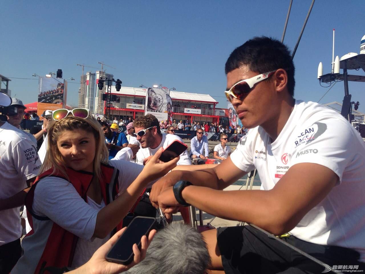 积分榜,北京时间,沃尔沃,阿布扎比,比赛结果 第二赛段东风队十几分钟之差屈居第二,布鲁内尔队获第一 沃尔沃环球帆船赛前线报道 刘学接受媒体采访