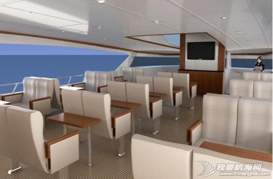 不锈钢扶手,液晶电视,真皮沙发,播放器,LED灯带 内湖使用纯太阳能双体动力艇Usun50 05.jpg