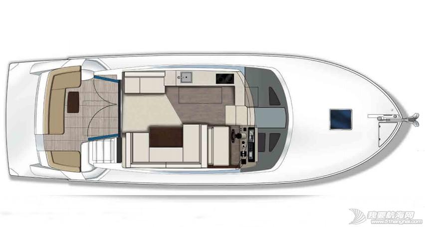 美国,进口,美好时光,发动机,卫生间 亚洲首发,仅此一艘,美国进口豪华游艇卡福CARVER 40,现船销售。 Carver40_FPMainlevelwitHelm.jpg