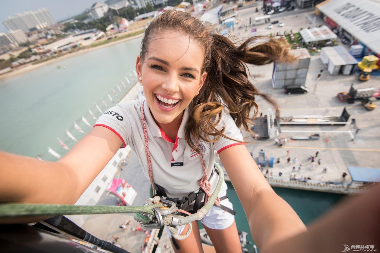 沃尔沃,世界小姐,施特劳斯,菲利普,探险家 世界小姐挑战东风号高达30米的桅杆