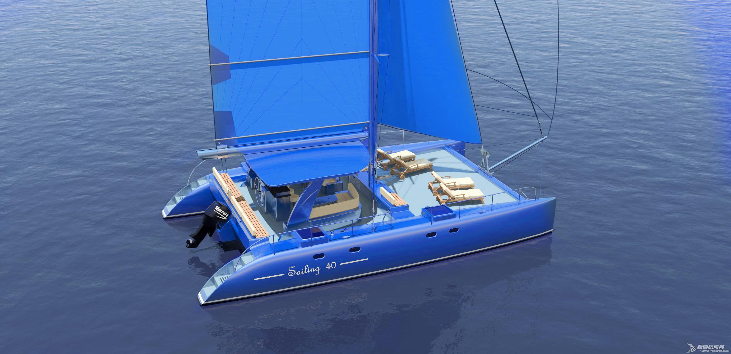休闲旅游,有限公司,帆船,证书,日照 40英尺双体帆船,比赛休闲两用,法定船检证书和试航证书 可以选择颜色