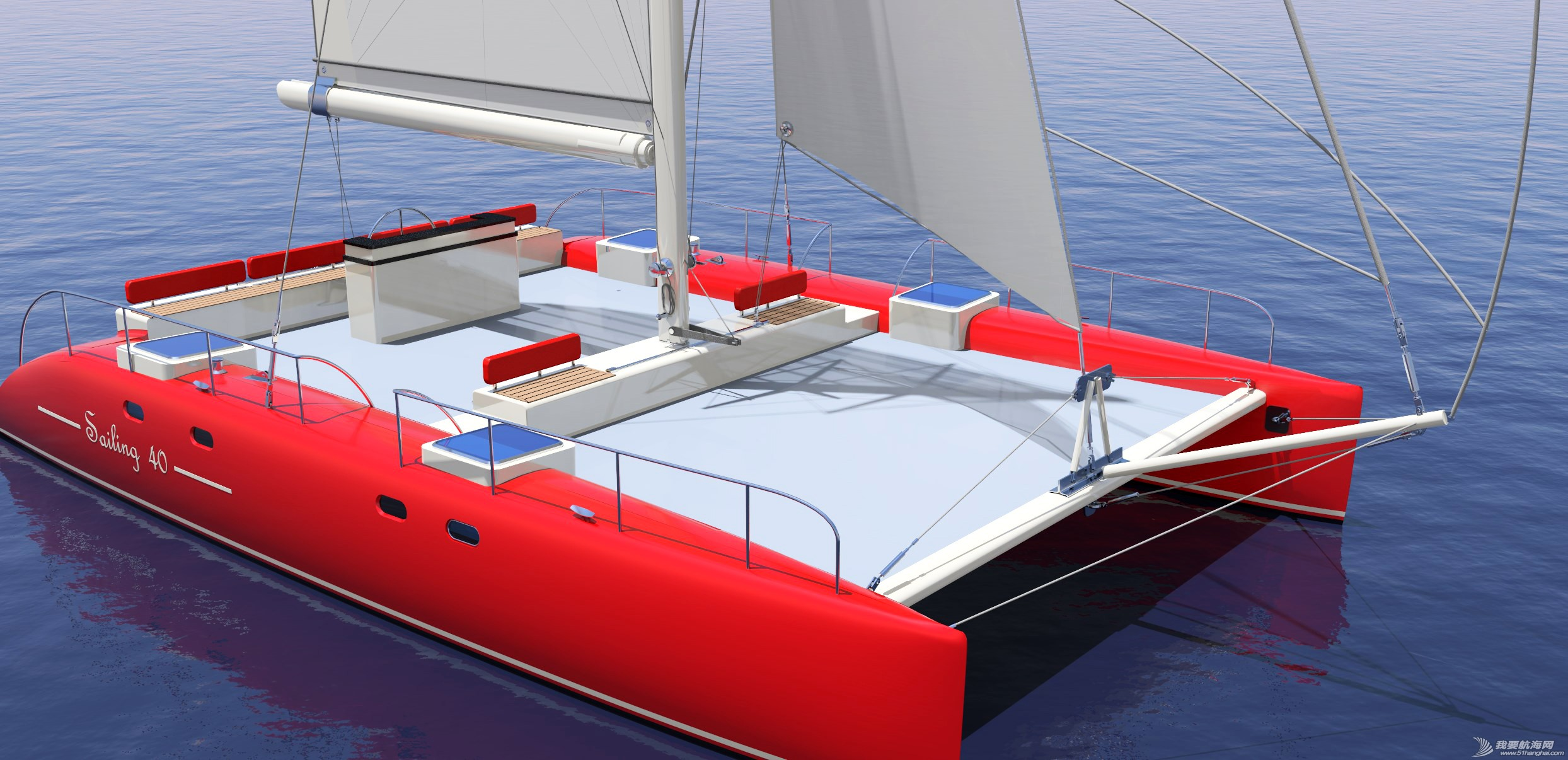 休闲旅游,有限公司,帆船,证书,日照 40英尺双体帆船,比赛休闲两用,法定船检证书和试航证书 上部根据用户需要再设计