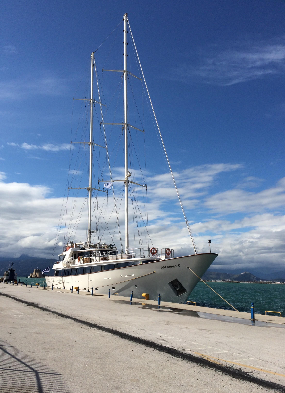 周末自驾游,威尼斯人,帆船,海边,利斯 你见过甲板上有两层的帆船吗?知道这条帆船是多少尺的吗? 2015-03-08IMG_4871.JPG