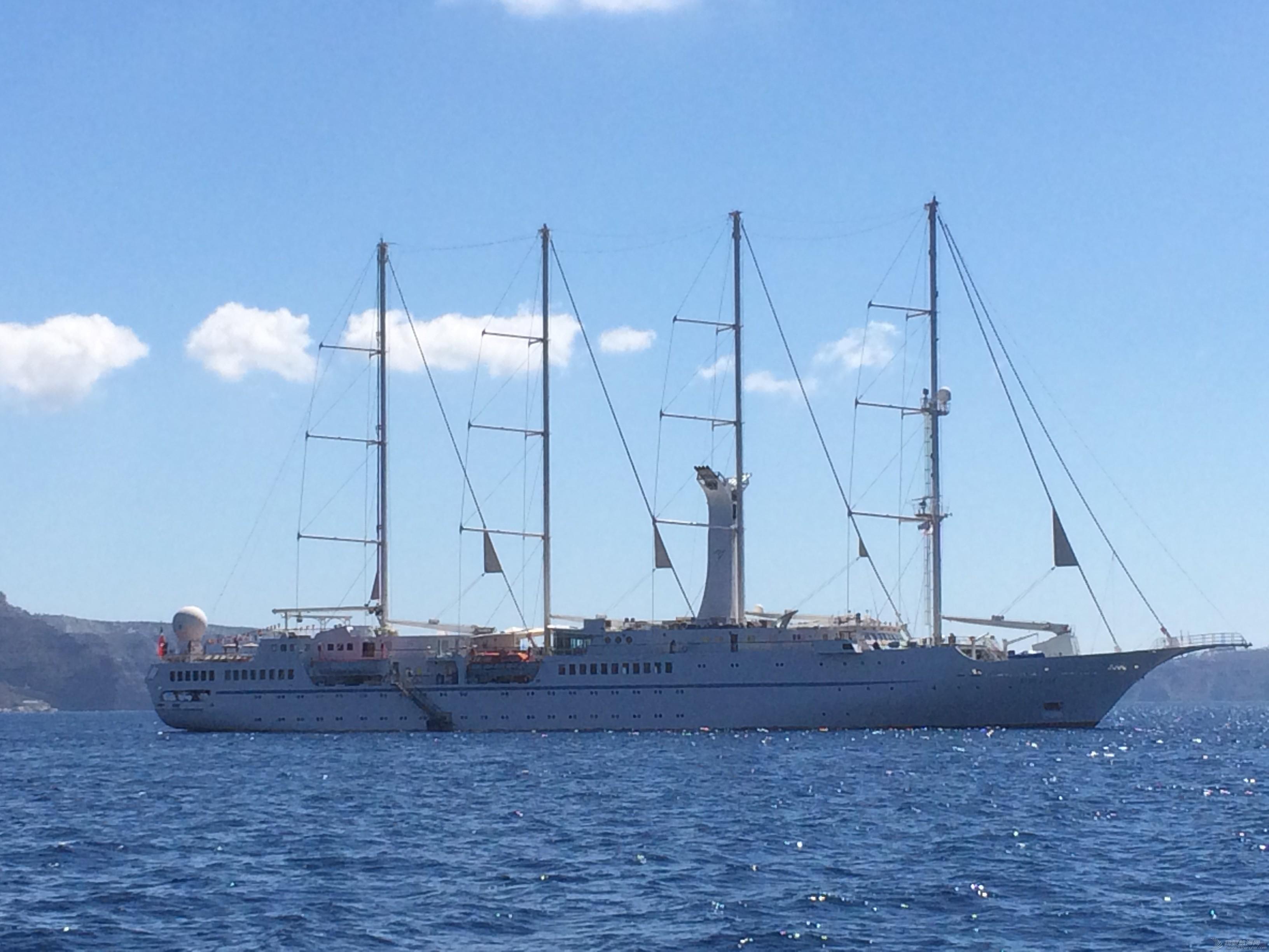 帆船,托里 我在圣托里尼看到的 4 桅杆帆船 IMG_1444.JPG