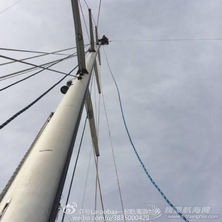 帆船 帆船下水前的准备工作之爬桅杆安装缆绳 e495766cjw1eqkobuzheej218g18gamn.jpg