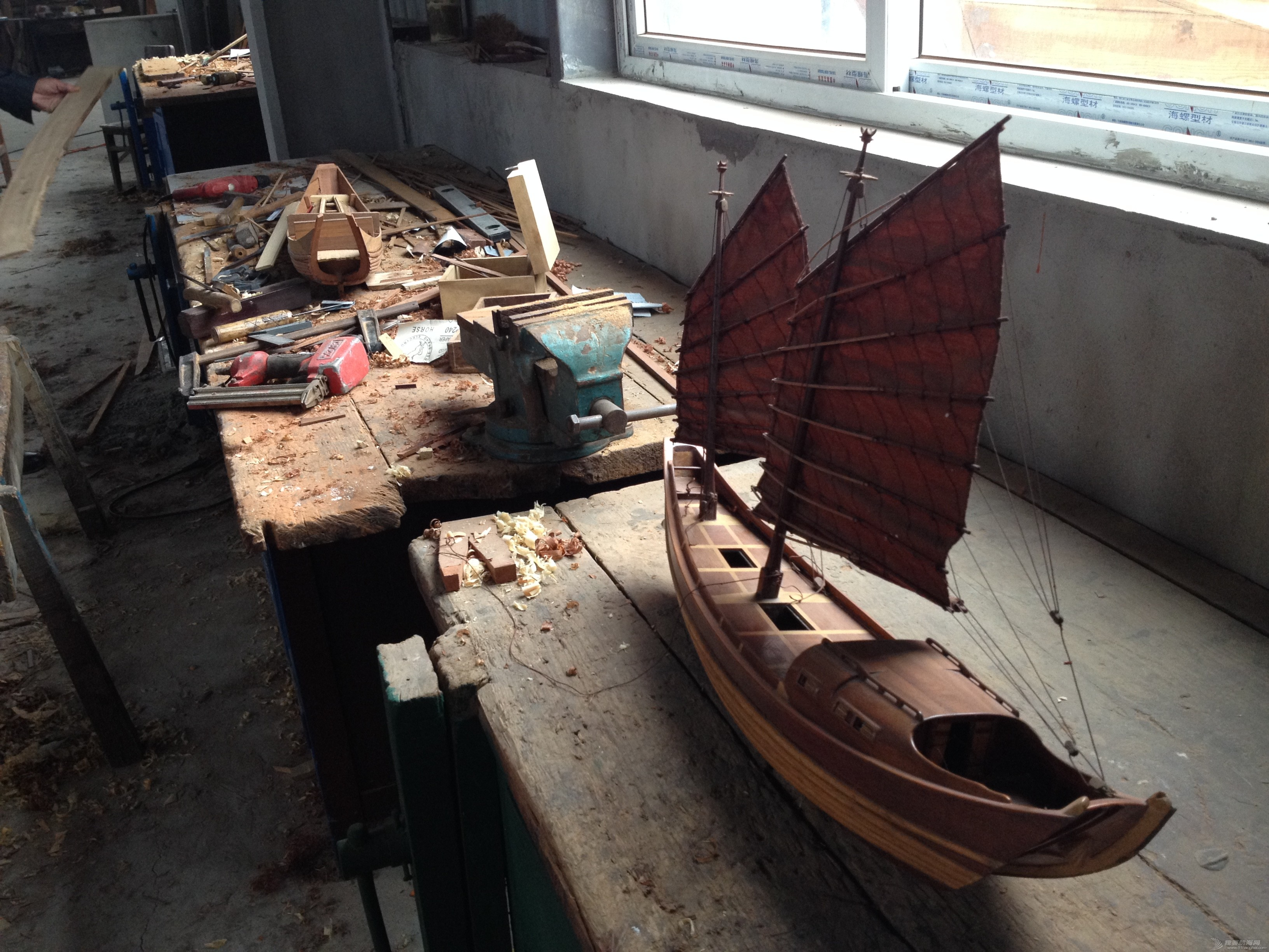 中式风格,交通运输,造船厂,朱家尖,对抗赛 全球首次中式帆船比赛可能会在舟山举行 IMG_7892.JPG