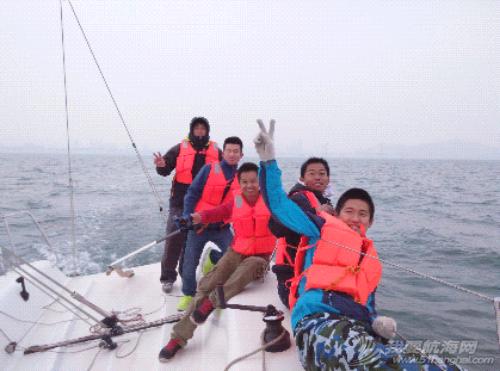 大连海事大学帆船队2015年第一次出海训练