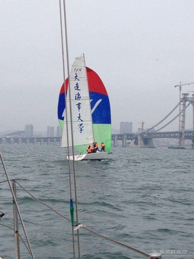 大连海事,大学,帆船 大连海事大学帆船队2015年第四次出海训练
