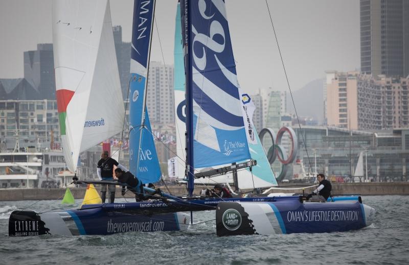 系列赛,青岛,阿曼,帆船,极限 青岛极限帆船系列赛  浪潮马斯喀特和阿曼航空队准备最后冲刺 1.jpg