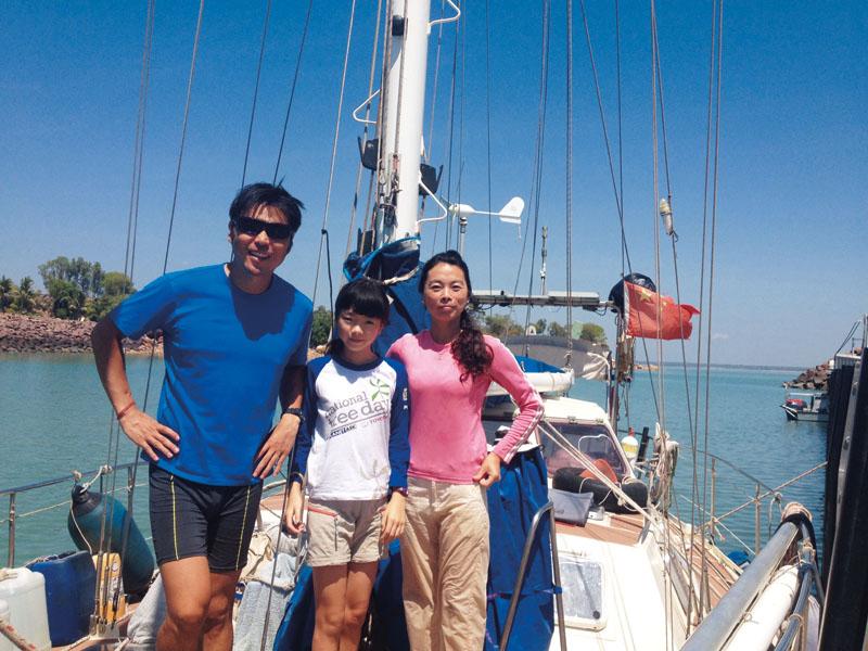 一家人 一条船 一个环游世界的梦