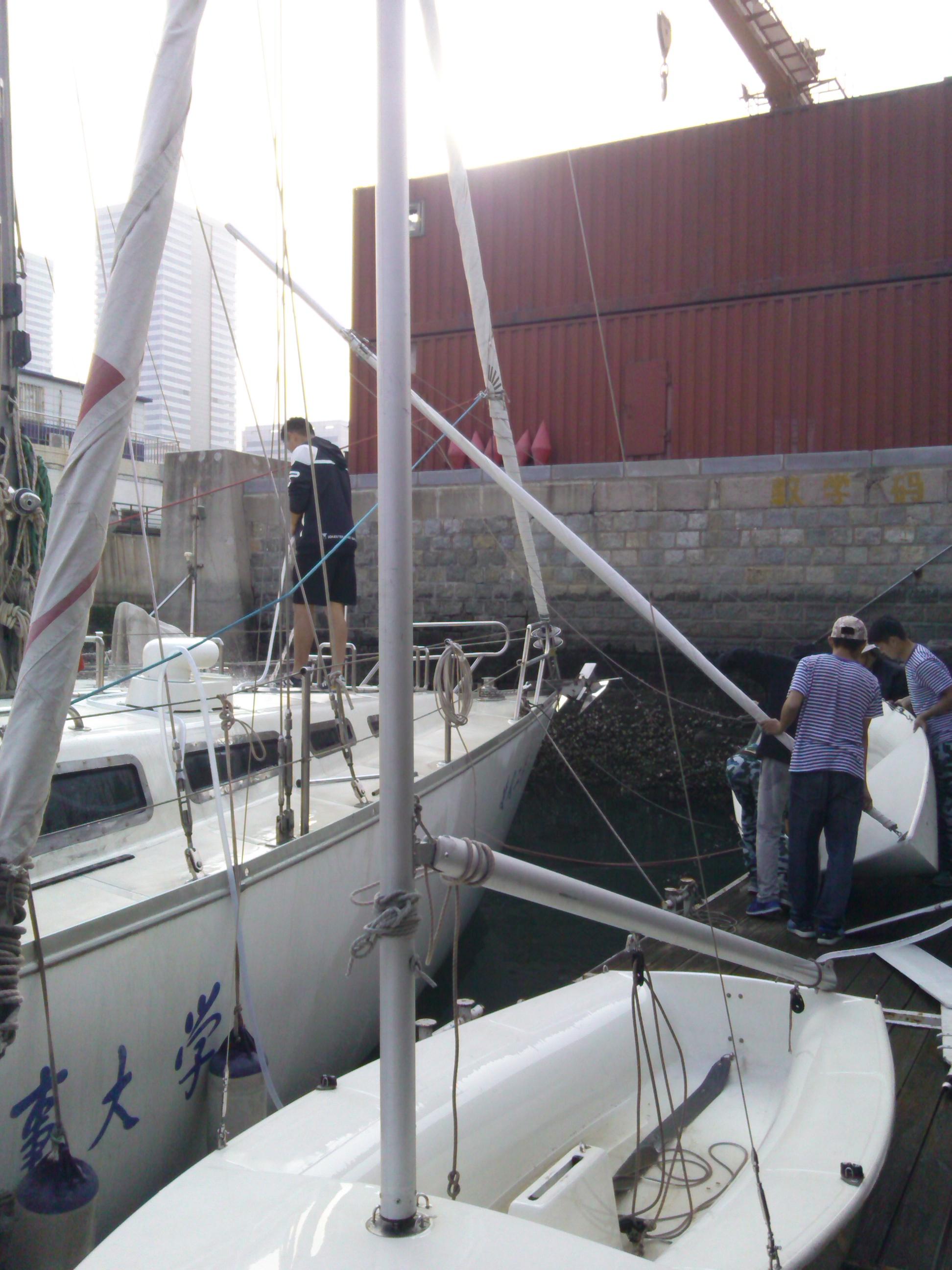 大连海事,大学,帆船 大连海事大学帆船队之港池小帆船训练