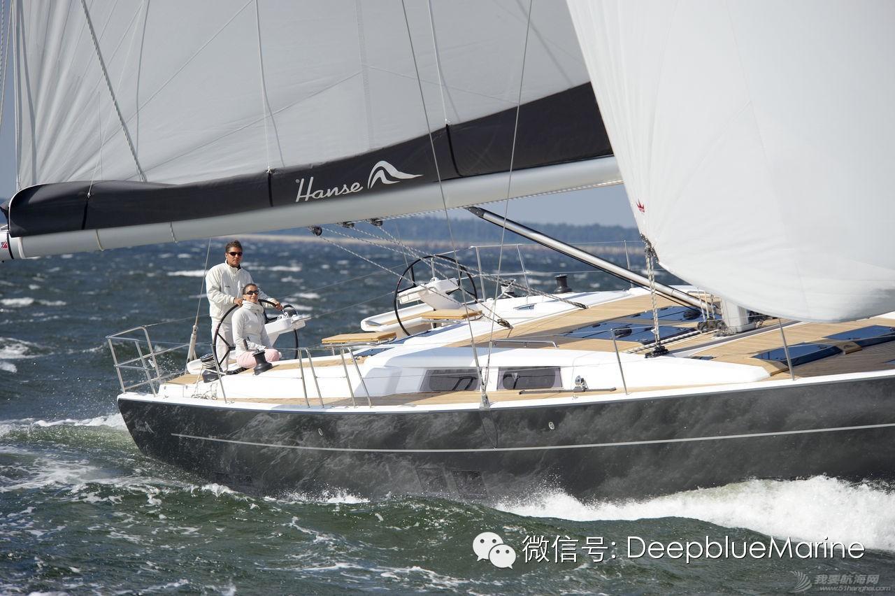 德国汉斯帆船158# H575 帆船到达青岛港