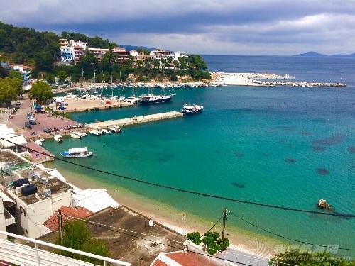 在Skopelos岛巧遇两年前认识的帆友