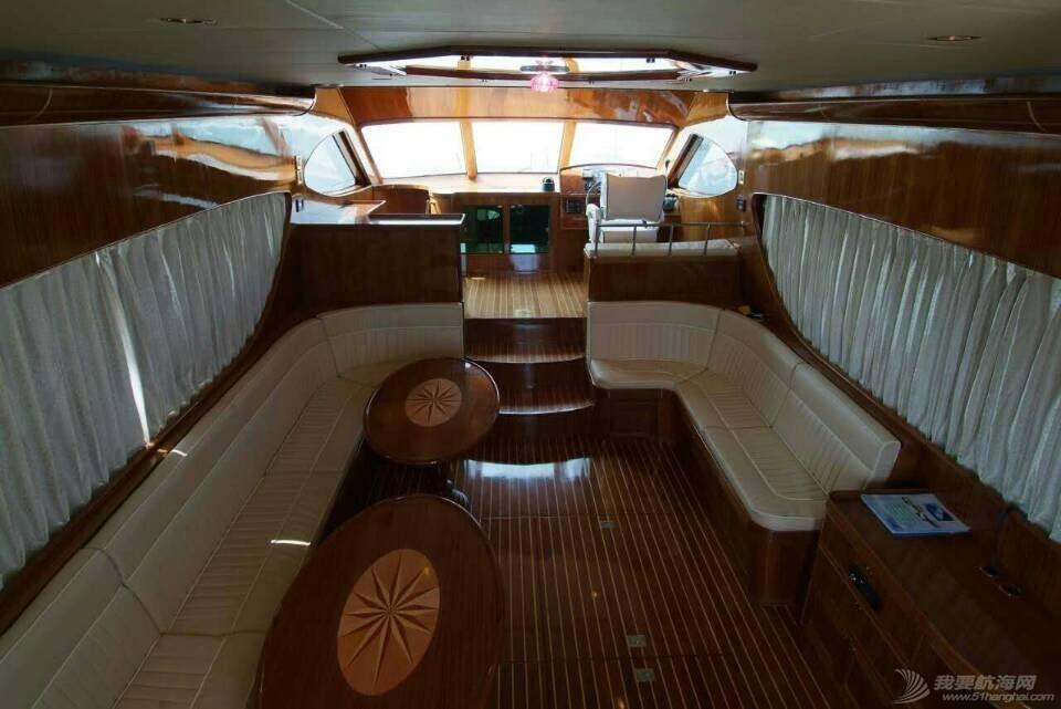 二手 卖条二手游艇57英尺飞桥游艇超值 二手游艇
