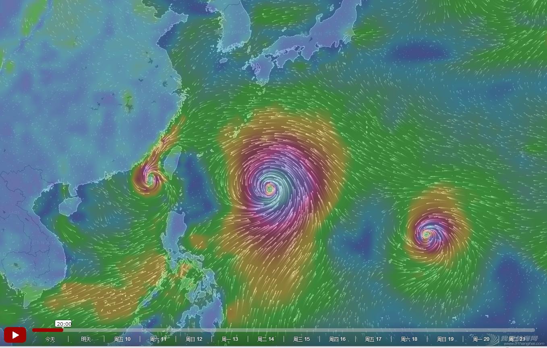 台风,浪卡,莲花,烂鸿,帆船气象 2015年7月8日 台风浪卡、莲花、烂鸿预警 20150708
