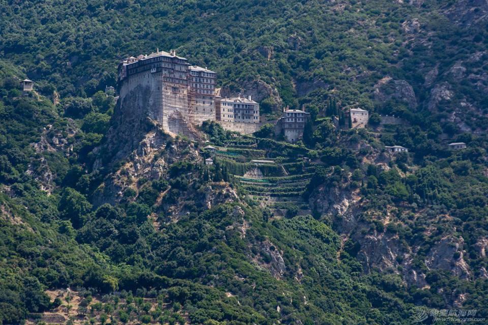 教科文组织,联合国,爱琴海,修道院,建筑群 只能航海远观的希腊最著名修道院建筑群 IMG_8683.JPG