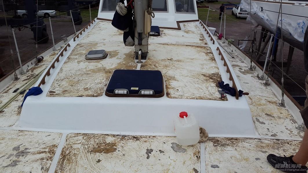购买Ithaca后船首次出水照片及成果 deck