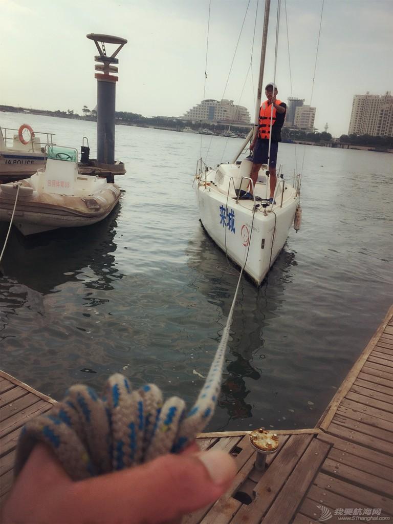 日记,日照,水上运动,俱乐部,志愿者 【公益航海志愿者日记@日照】 Day23-移泊位,做好明日吊船的准备工作 3_副本.jpg
