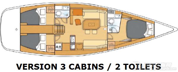 帆船 Beneteau First 45 博纳多锋士45英尺单体帆船 layout.png