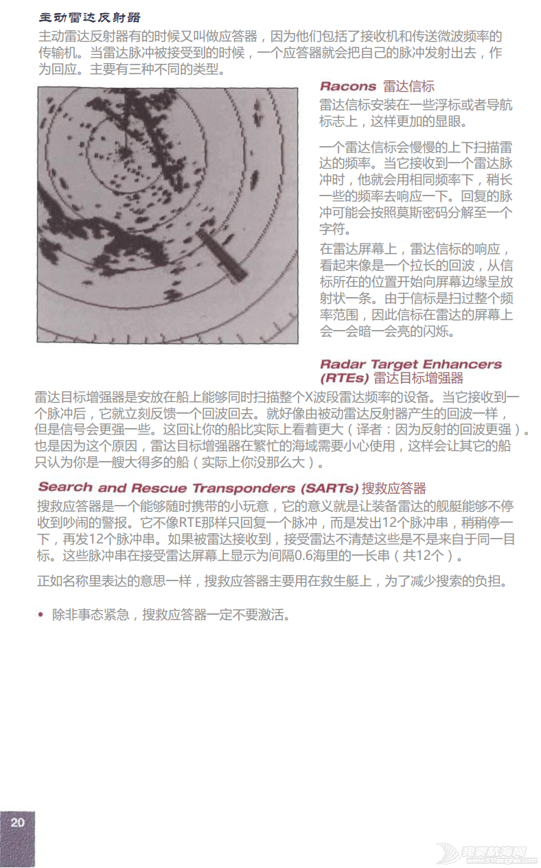 小伙伴,英文版,著作权,中文,帆船 ©RYA《雷达使用简介》An introduction to Radar.完稿 22