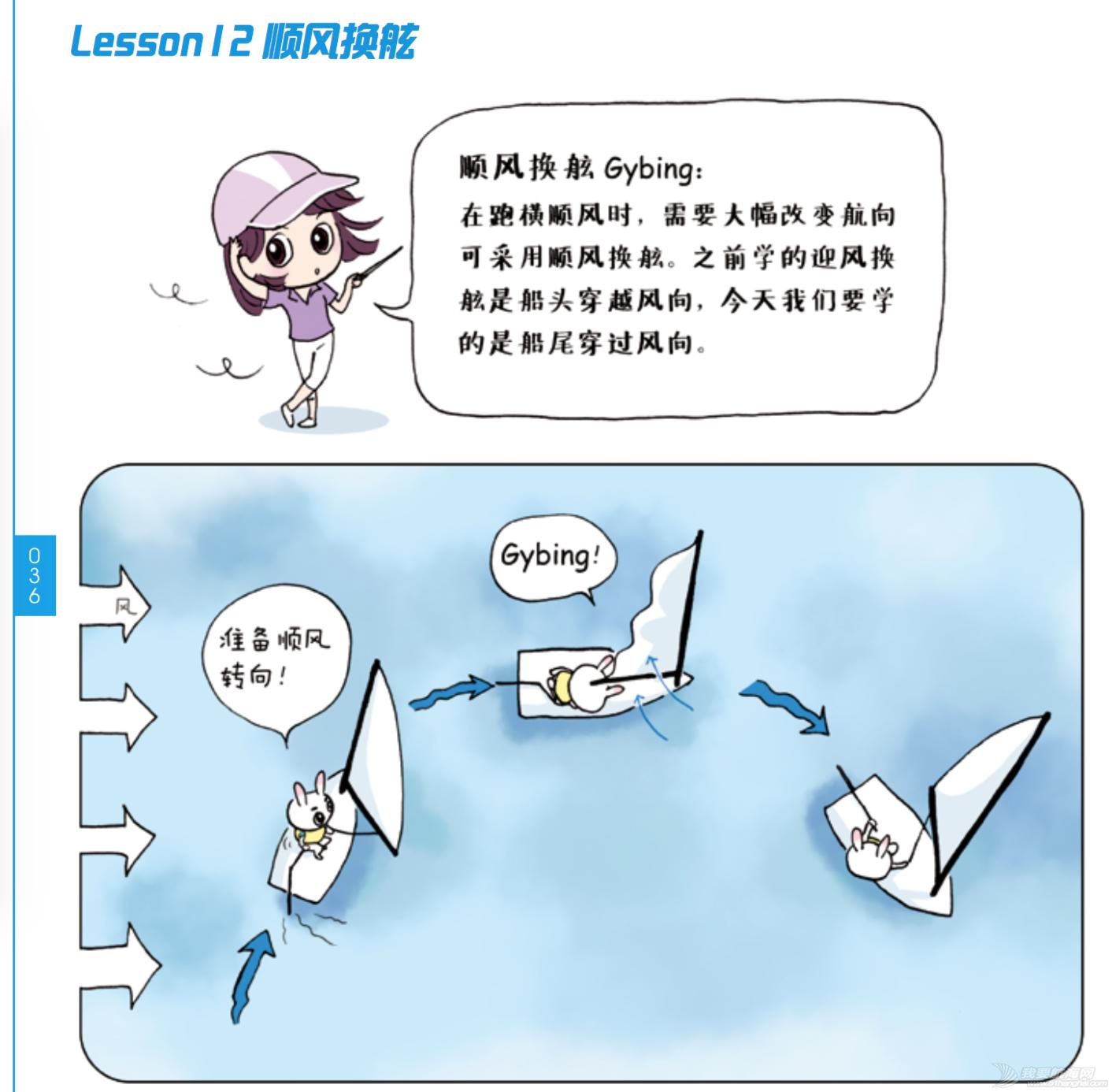 奥运冠军,帆船,连载 《跟奥运冠军学帆船》Lesson 12 顺风换舷 屏幕快照