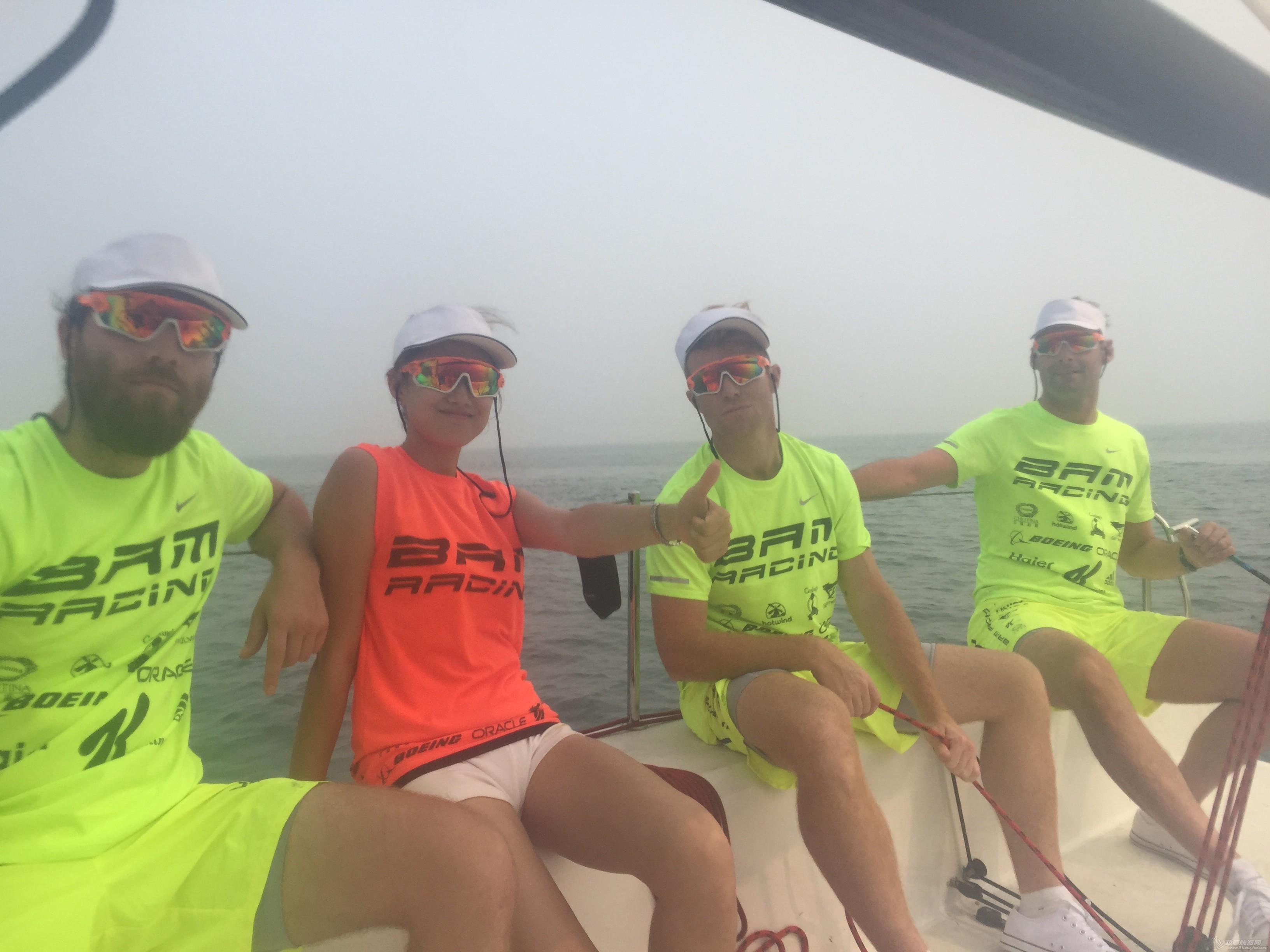 美国,朋友,帆船,国际,威海 帆船初体验——记参加威海杯国际帆船赛 船上合影