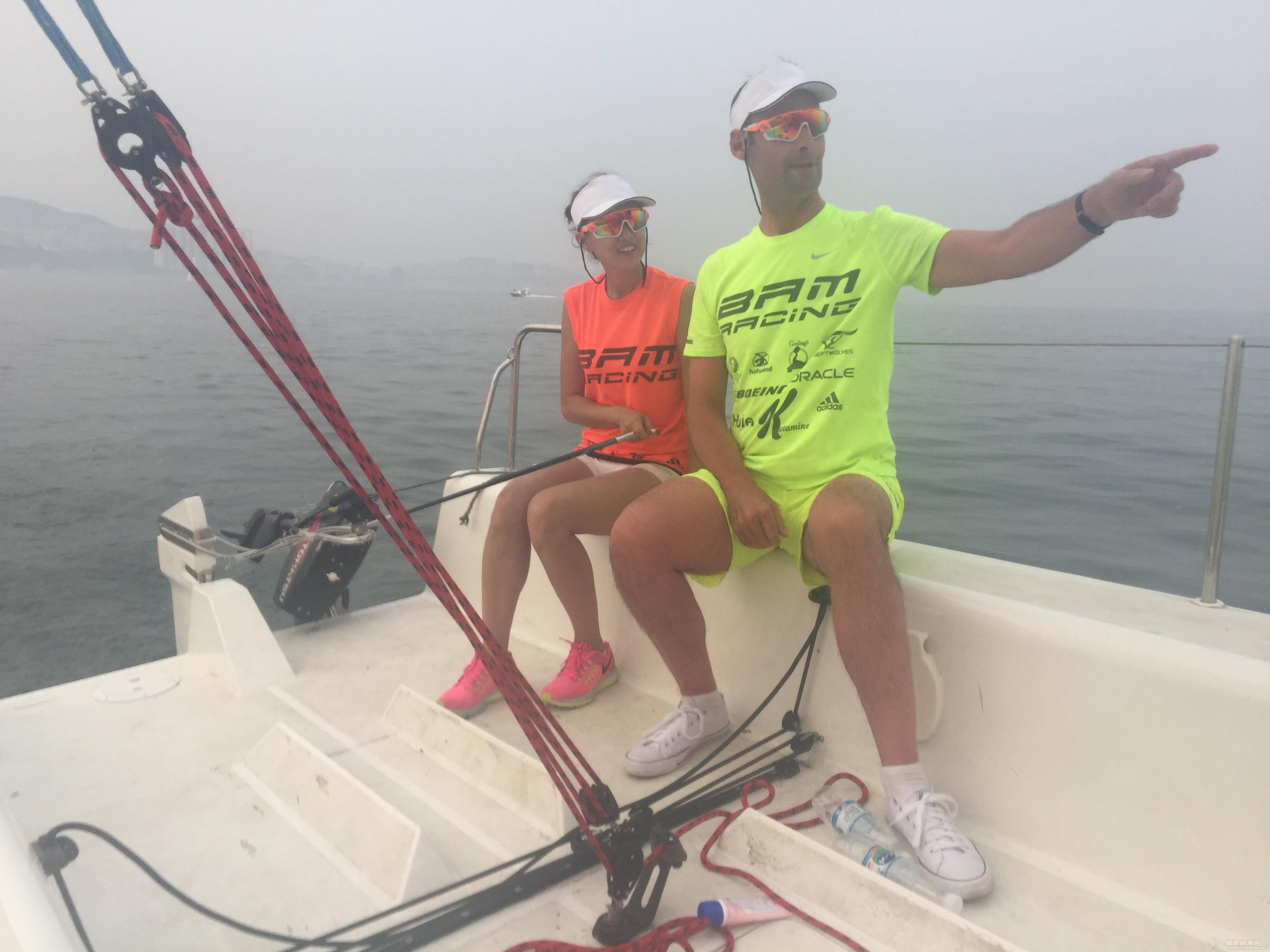 美国,朋友,帆船,国际,威海 帆船初体验——记参加威海杯国际帆船赛 学习掌舵
