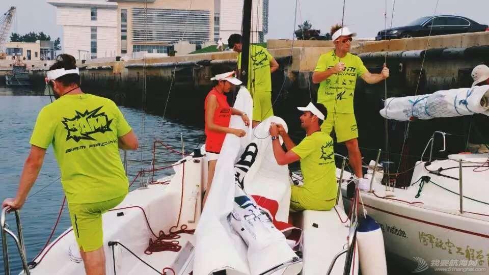 美国,朋友,帆船,国际,威海 帆船初体验——记参加威海杯国际帆船赛 归航整备
