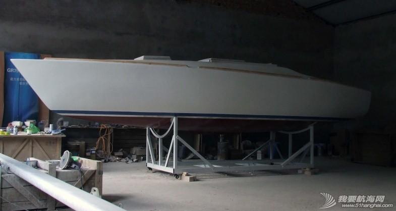 GR-750船壳涂装完成,我要航海网