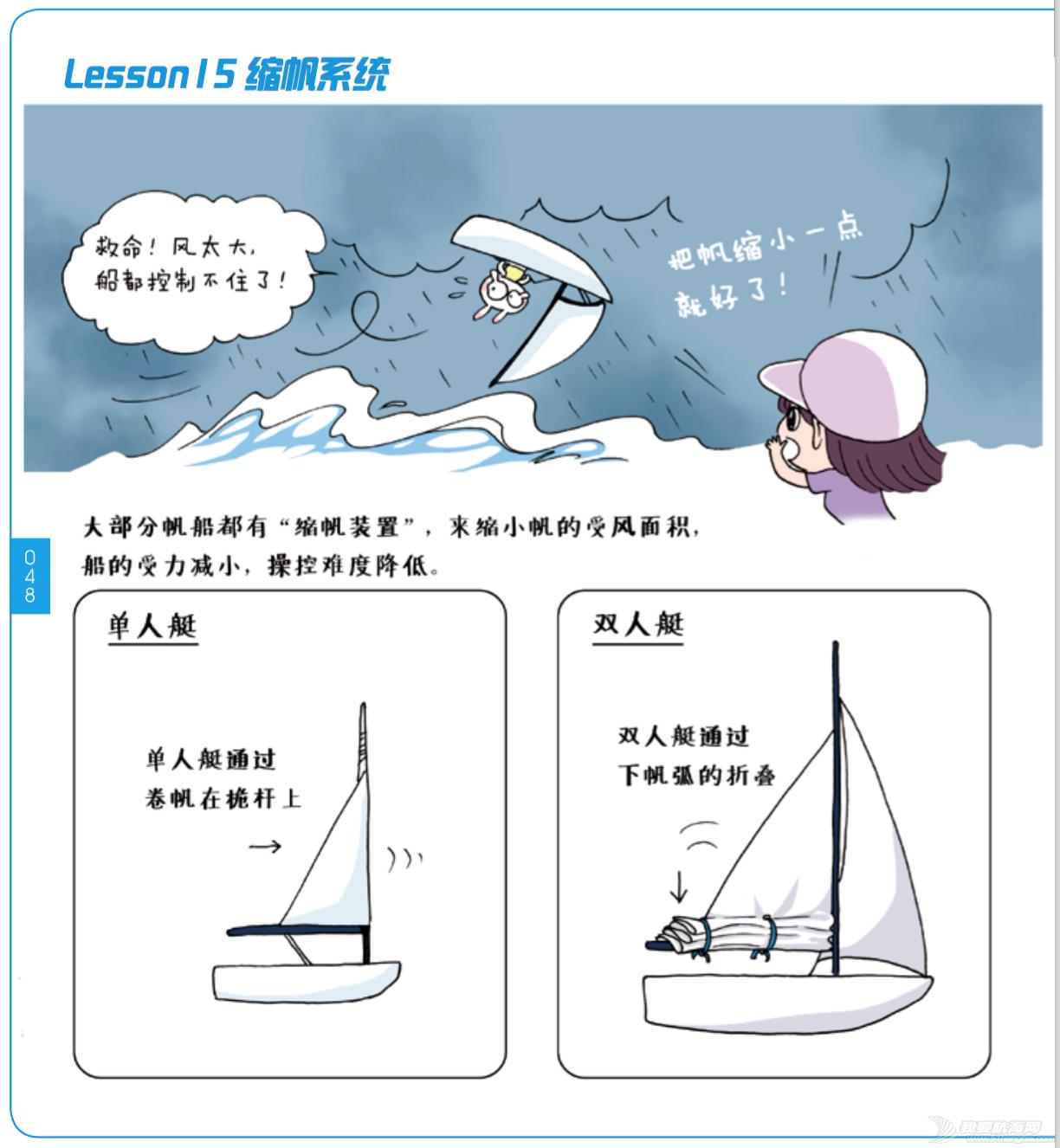 奥运冠军,帆船,连载 《跟奥运冠军学帆船》Lesson 15 缩帆系统 屏幕快照
