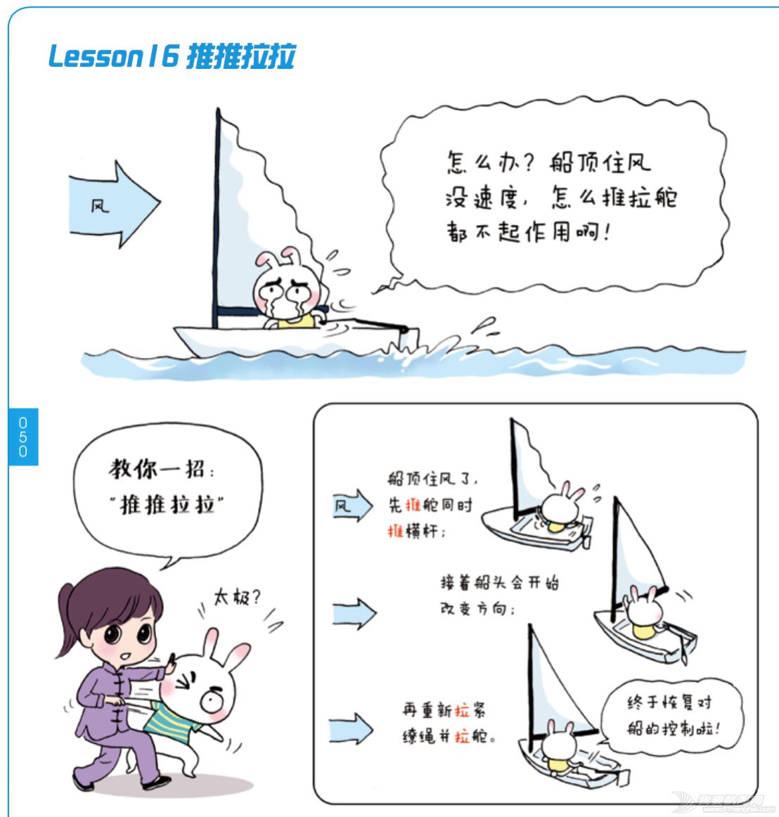 奥运冠军,帆船,连载 《跟奥运冠军学帆船》Lesson 16 推推拉拉 屏幕快照
