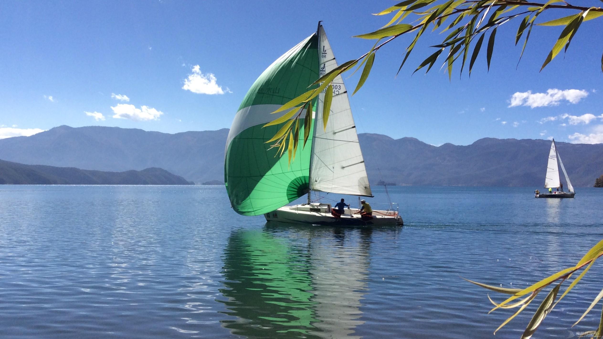 泸沽湖,中国,四川,帆船,国际 中国四川盐源泸沽湖国际帆船巡回赛鸣锣开赛