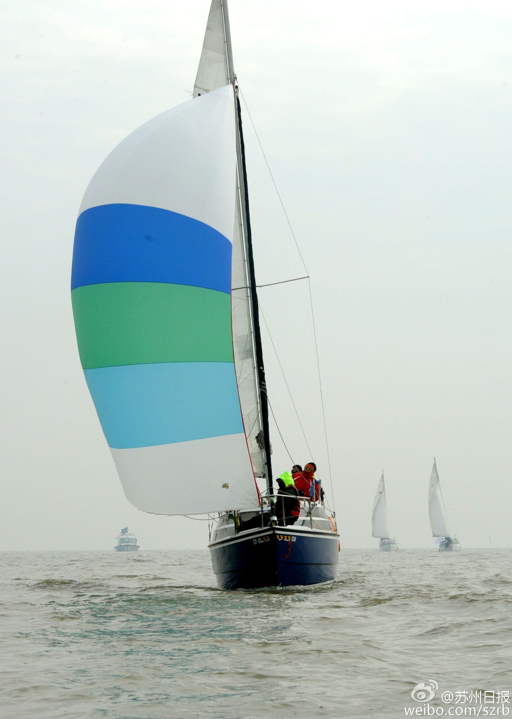 浙江湖州,江苏省,有限公司,帆船运动,卡特琳娜 太湖水域首个帆船比赛环太湖帆船拉力赛扬帆 1.jpg