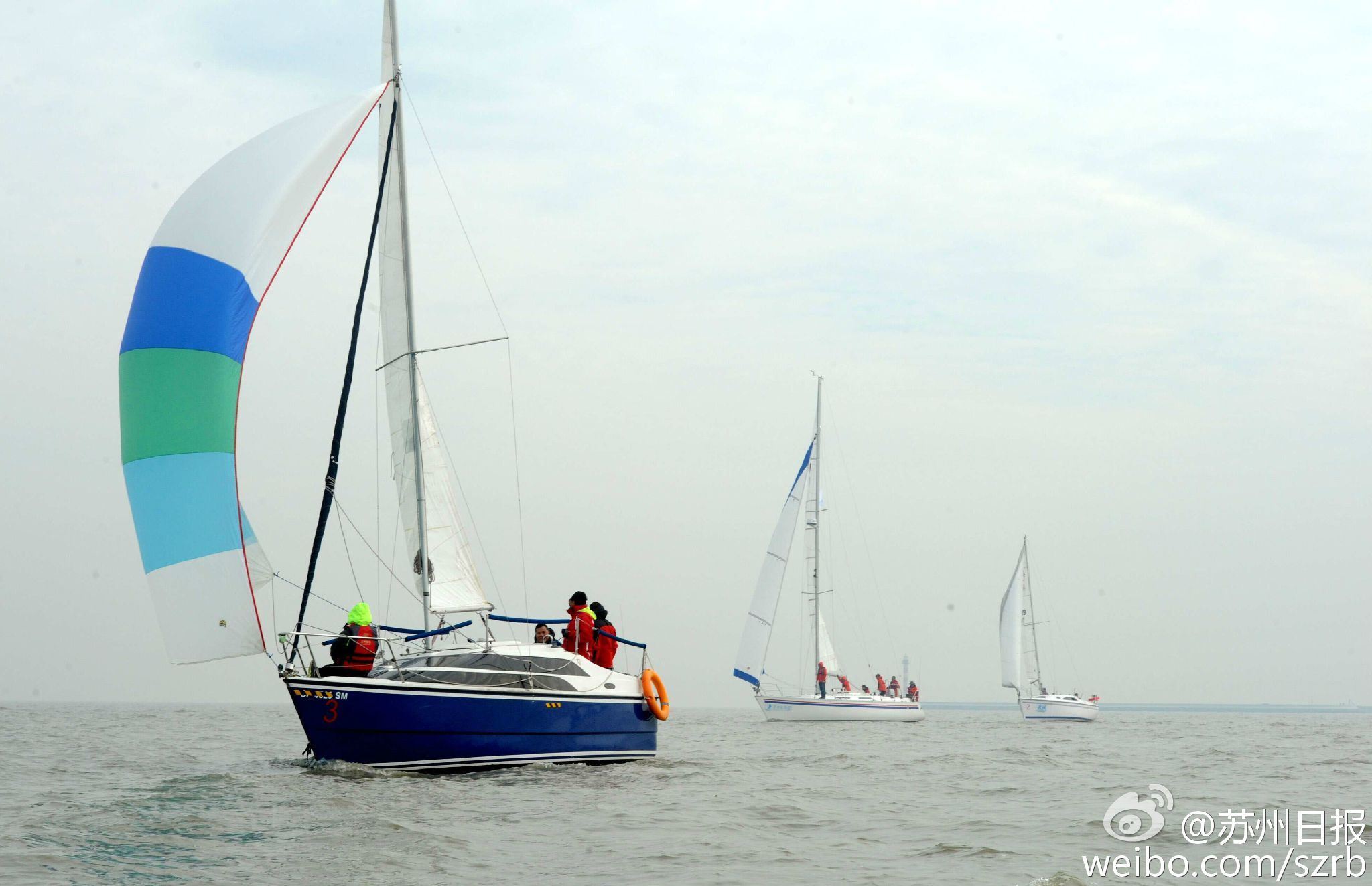 浙江湖州,江苏省,有限公司,帆船运动,卡特琳娜 太湖水域首个帆船比赛环太湖帆船拉力赛扬帆 5.jpg