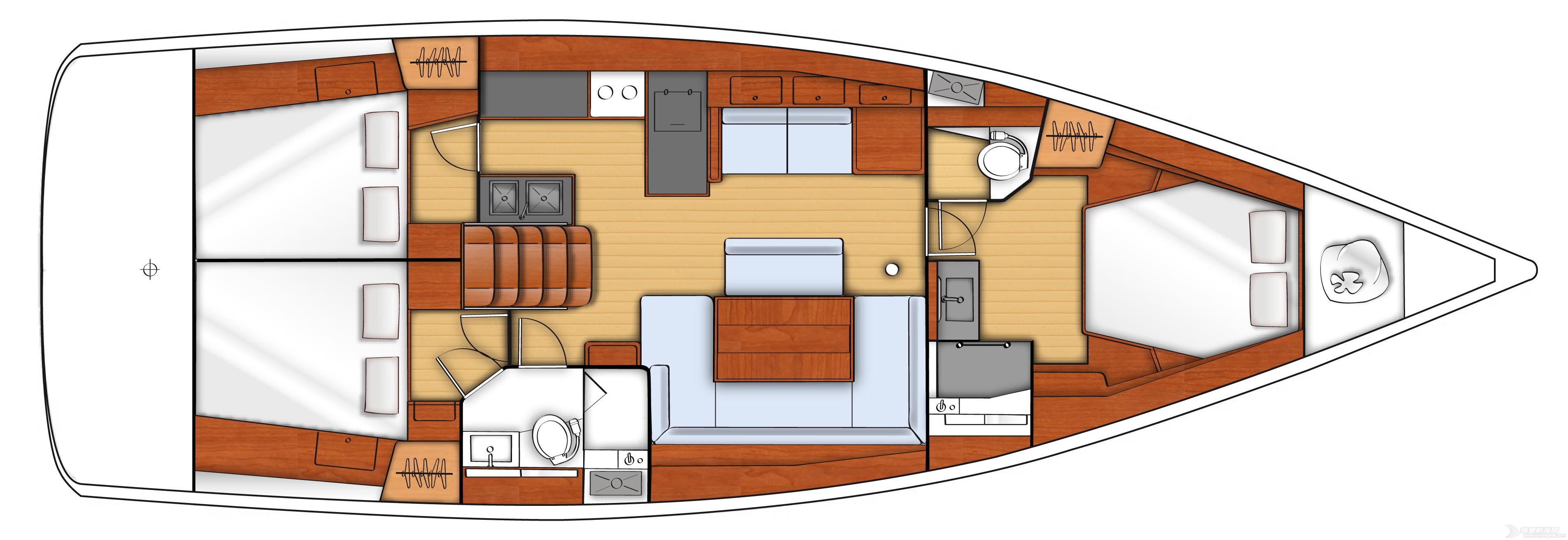发动机,帆船,空间,型号 Beneteau Oceanis 48博纳多遨享仕48英尺单体帆船 plan-interieur-2.jpg