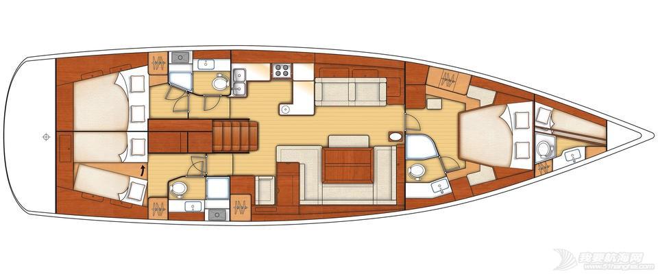 发动机,帆船 Beneteau Oceanis 60博纳多遨享仕60英尺单体帆船