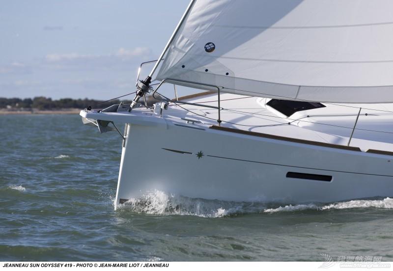 帆船 Jeanneau Sun Odyssey 419 亚诺419单体帆船 亚诺419单体帆船