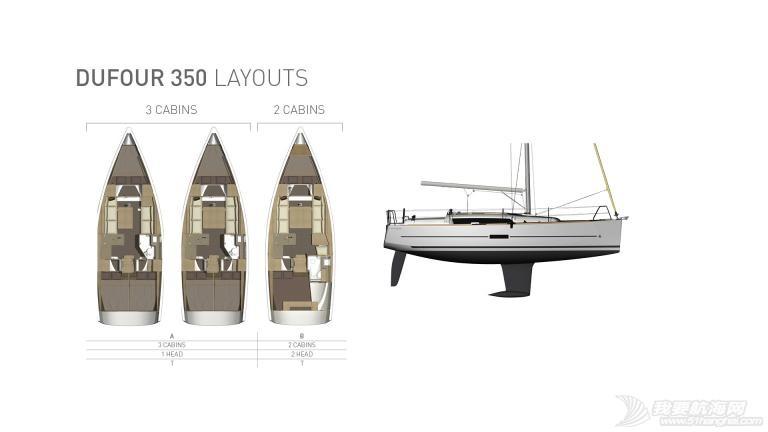 帆船 DUFOUR 350 丹枫350单体帆船