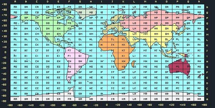 QTH-快速区块定位:Maidenhead Grid Square Locator梅登海德网格定位系统坐标 经纬度和梅登海德对照图.jpg