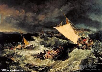 帆船,复古 几张复古的帆船油画 8.pic.jpg