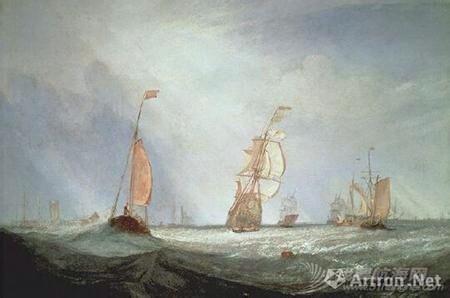 帆船,复古 几张复古的帆船油画 9.pic.jpg